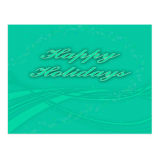Happy Holidays Green on Green Holiday Design Postcard