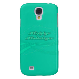 Happy Holidays Green on Green Holiday Design Samsung Galaxy S4 Covers