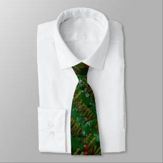 Happy Holidays Green Tie