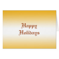 Happy holidays greeting card. cards