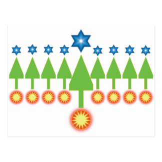 Happy Holidays Greeting Card - Christmas Hanukkah Post Cards
