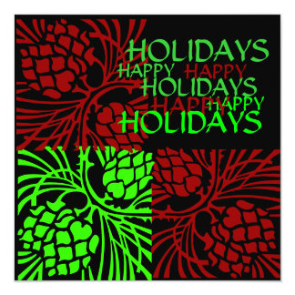 HAPPY HOLIDAYS GREETING,INVITATION CARD