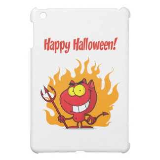 Happy Holidays Greeting With Halloween Devil Case For The iPad Mini