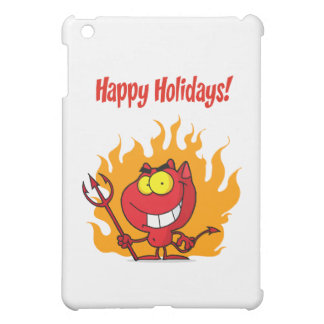 Happy Holidays Greeting With Halloween Devil iPad Mini Cases