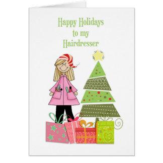 Happy Holidays, Hairdresser Card