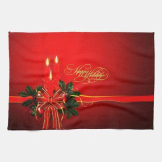 Happy Holidays Hand Towel
