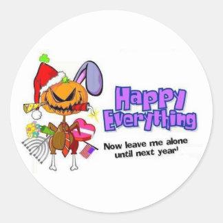 Happy Holidays-Happy Anything-Happy Everything Classic Round Sticker