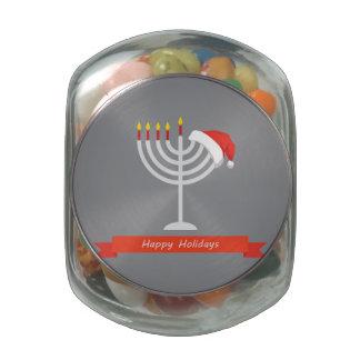 Happy Holidays, Happy Holidays And Happy Glass Candy Jars