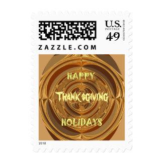 Happy Holidays Happy Thanksgiving Hakuna Matata Postage Stamp