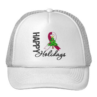 Happy Holidays Head and Neck Cancer Awareness Trucker Hat