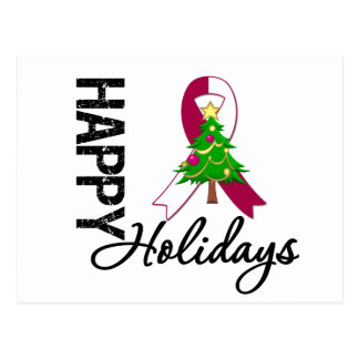 Happy Holidays Head and Neck Cancer Awareness Postcard