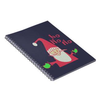 Happy Holidays Ho Ho Ho Merry Christmas Notebook