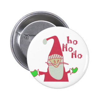 Happy Holidays Ho Ho Ho Merry Christmas.png Pinback Button