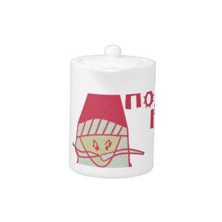 Happy Holidays Ho Ho Ho Merry Christmas.png Teapot