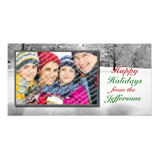Happy Holidays Holiday Digital Photo Cards