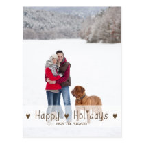 HAPPY HOLIDAYS | HOLIDAY PHOTO POSTCARD