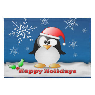 Happy Holidays Holiday Placemats Cloth Placemat