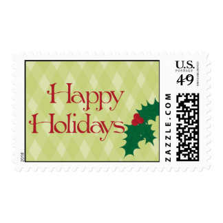 Happy Holidays - Holly Stamps