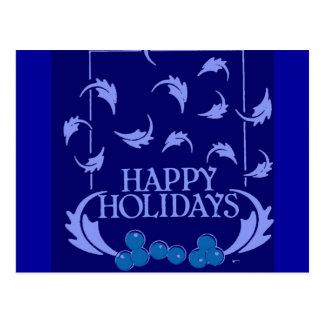 Happy Holidays Holly Postcard