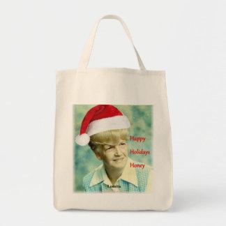 Happy Holidays Honey. Lomita totebag. Tote Bag