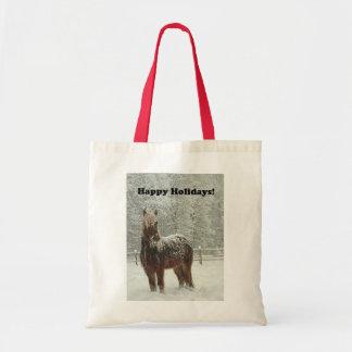Happy Holidays Icelandic Horse Photo Bags