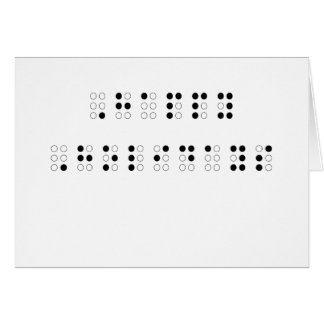 Happy Holidays in Braille Greeting Cards