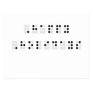 Happy Holidays in Braille Postcard