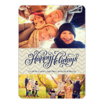 Happy Holidays in Chevron | 5x7 | Flat Card