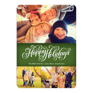 Happy Holidays in Green | 5x7 | Flat Card