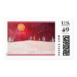 Happy Holidays In Multiple Languages Postage