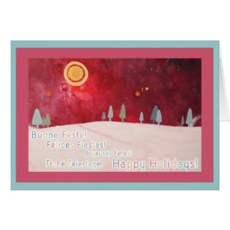 Happy Holidays In Multiple Languages Stationery Note Card