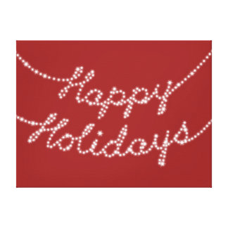 Happy Holidays in Twinkle Lights Canvas