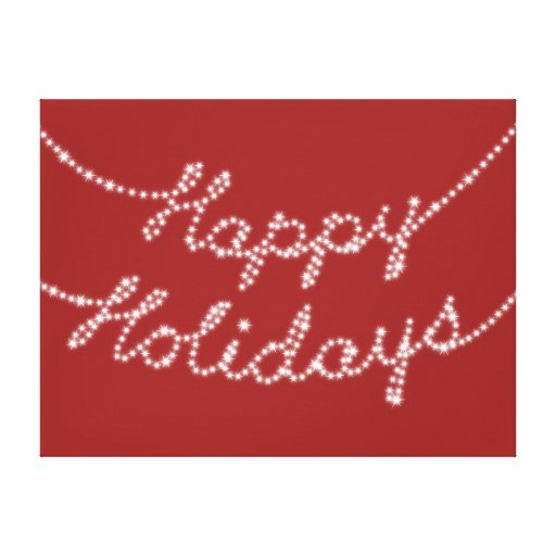 Happy Holidays in Twinkle Lights Canvas Canvas Print