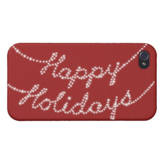 Happy Holidays in Twinkle Lights iPhone 4 Case