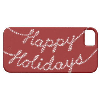 Happy Holidays in Twinkle Lights iPhone 5 Case