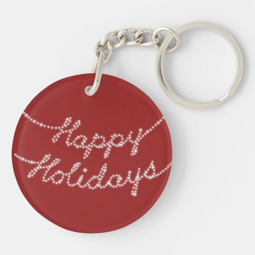 Happy Holidays in Twinkle Lights Key Chain
