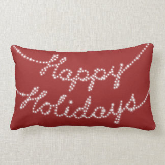 Happy Holidays in Twinkle Lights Lumbar Pillow