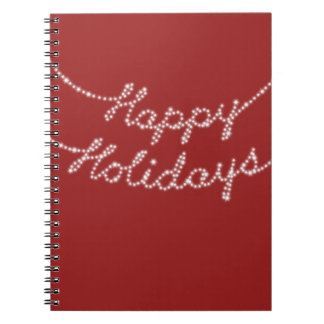 Happy Holidays in Twinkle Lights Notebook