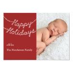 Happy Holidays in Twinkle Lights Photo Card Custom Invites