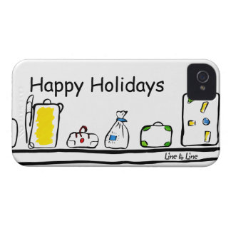 Happy Holidays iPhone 4 Covers