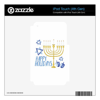 Happy Holidays iPod Touch 4G Skin