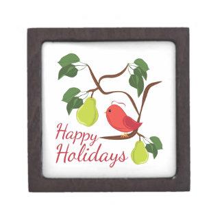 Happy Holidays Jewelry Box