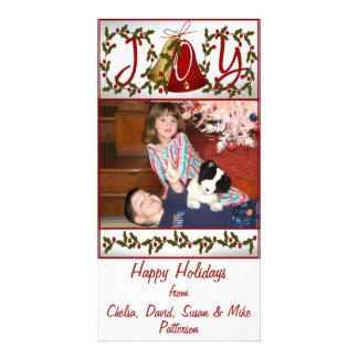 Happy Holidays Joy Photo Greeting Card