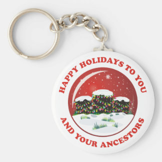 Happy Holidays Keychain