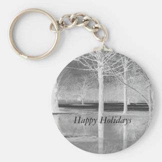 Happy Holidays Keychain