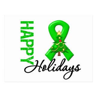 Happy Holidays Kidney Cancer Awareness v2 Postcard