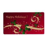 Happy Holidays ! - Label