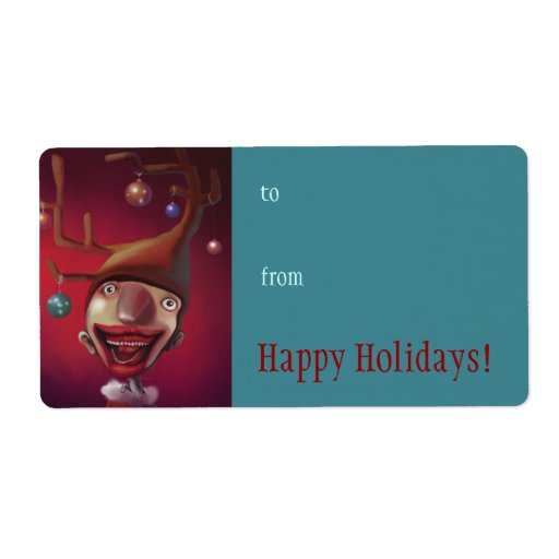 Happy Holidays label Shipping Label