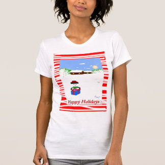 Happy Holidays  Ladies Tank Top (fitted)
