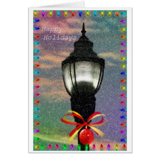 Happy Holidays Lamppost Card